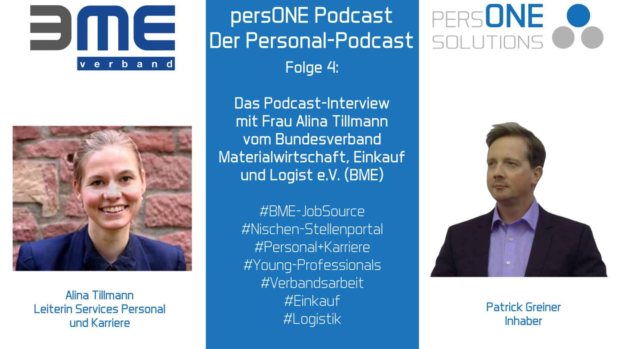 Interview mit Alina Tillmann vom Bundesverband Materialwirtschaft, Einkauf und Logistik e. V. (BME)
