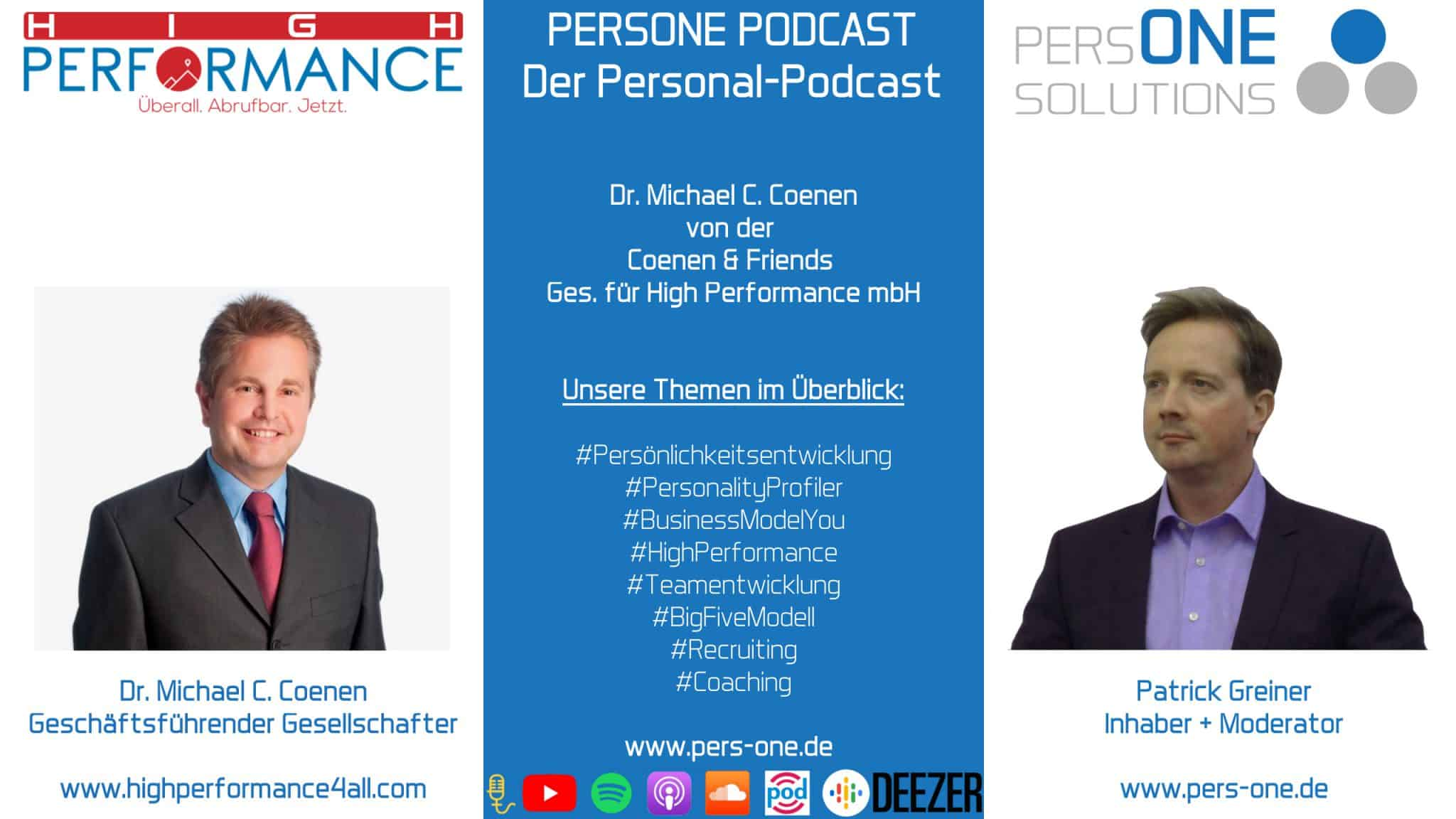 Dr. Michael C. Coenen | PERSONE PODCAST - Der Personal-Podcast
