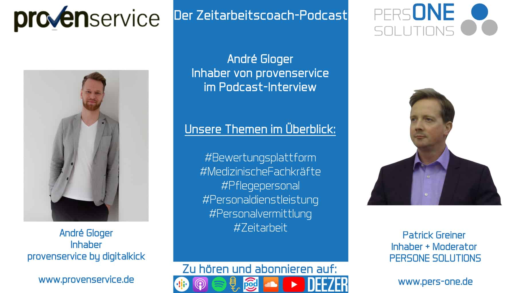 André Gloger_provenservice_Der Zeitarbeitscoach-Podcast