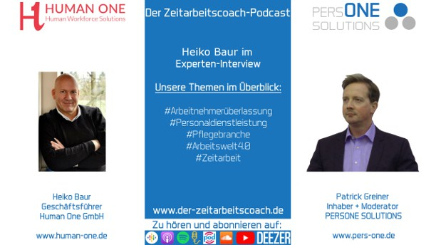 Baur, Heiko_HumanOne_Podcast YT 2Grafik-Interview_Zeitarbeitscoach-Podcast