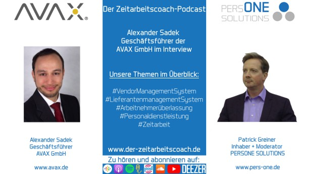 Sadek, Alexander_AVAX_Podcast YT Grafik2-Interview_Zeitarbeitscoach-Podcast