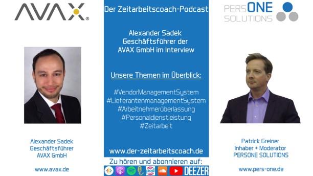 Sadek, Alexander_AVAX_Podcast YT Grafik2-Interview_Zeitarbeitscoach-Podcast