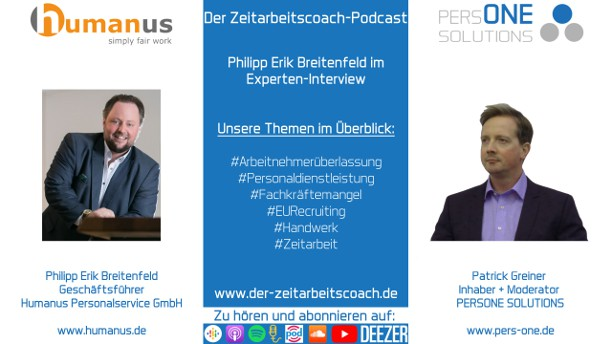 Breitenfeld_humanus_Podcast YT 2Grafik-Interview_Zeitarbeitscoach-Podcast
