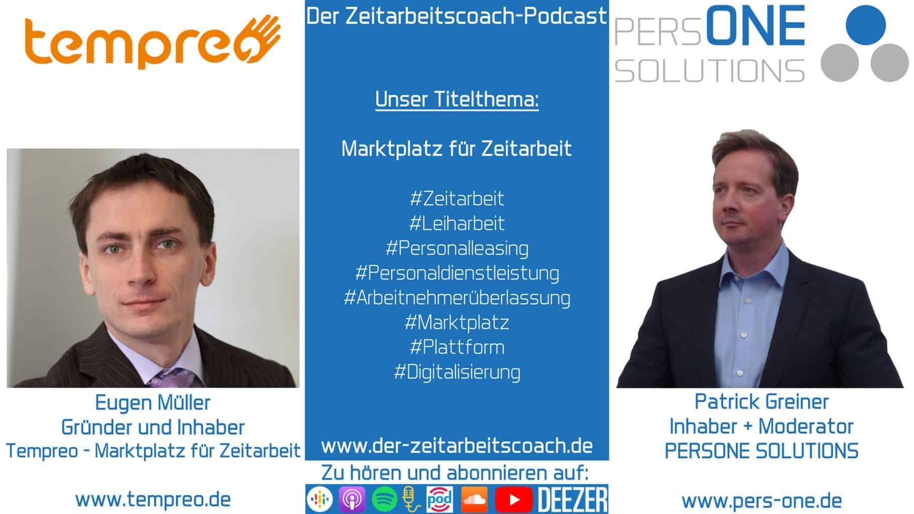 Müller, Eugen_tempreo_Podcast Grafik-SM Interview_Zeitarbeitscoach-Podcast