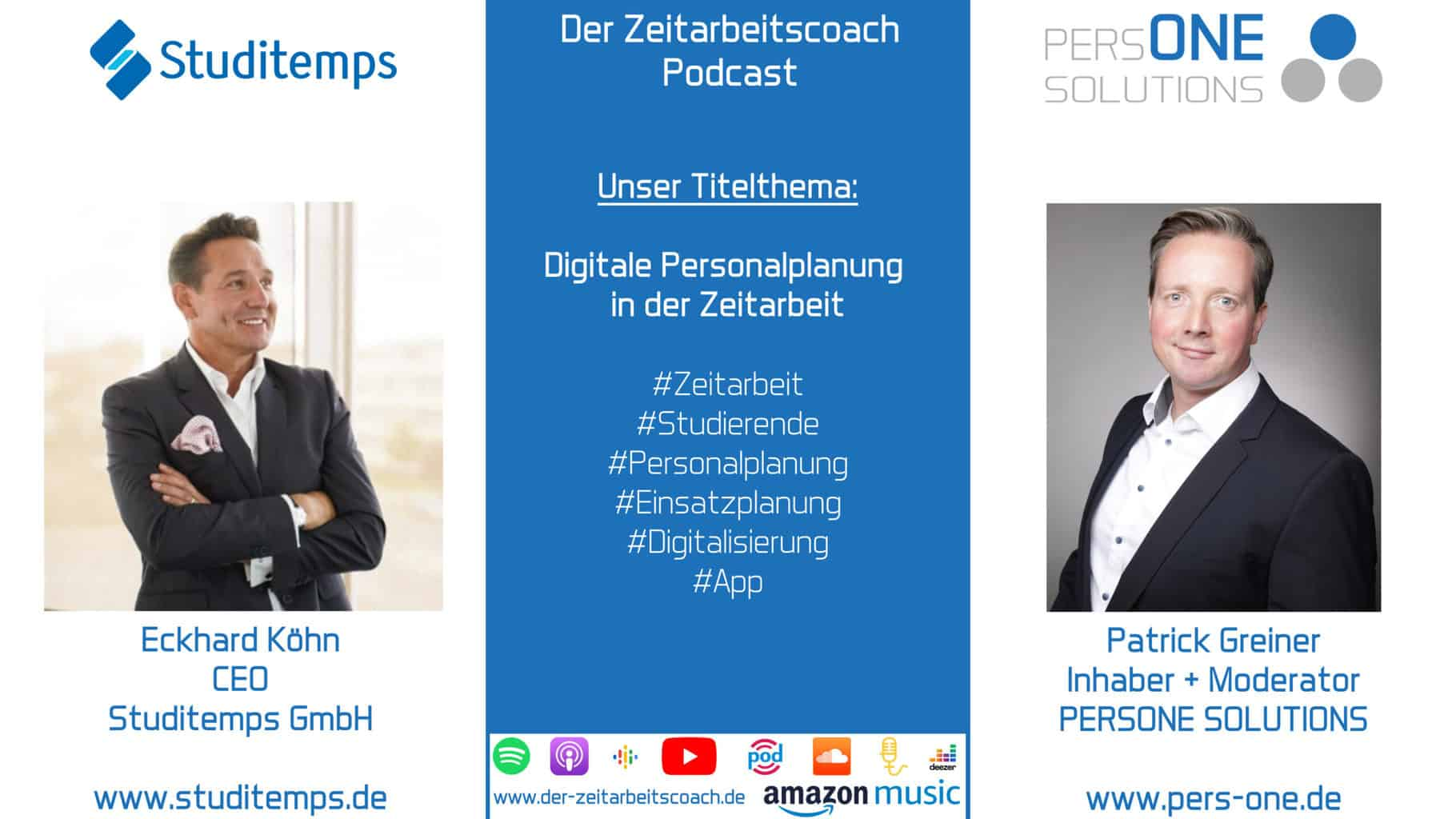 Köhn, Eckhard-Studitemps_Podcast YT-SM Grafik_Zeitarbeitscoach Podcast