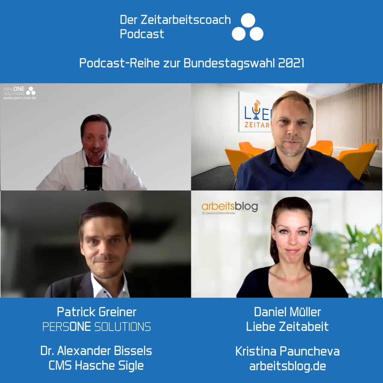 Bundestagswahl 2021_Dr. Bissels, Alexander_Podcast Grafik_Zeitarbeitscoach Podcast
