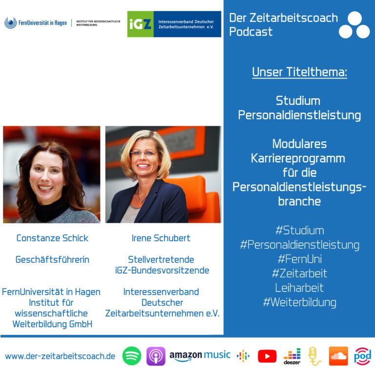 Studium Personaldienstleistung | Constanze Schick + Irene Schubert im Zeitarbeitscoach Podcast-Interview