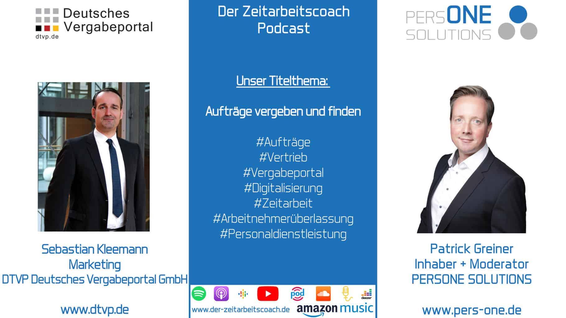 Aufträge vergeben und finden   Sebastian Kleemann von der DTVP GmbH im Zeitarbeitscoach Podcast